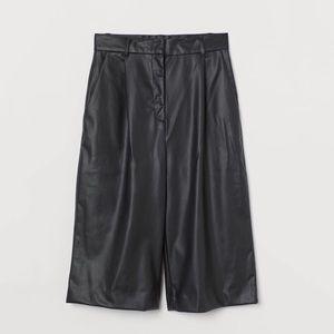 H&M Faux Leather Shorts